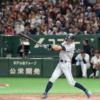 【動画】イチロー三塁にノーバウンド送球!レーザービームに東京ドーム大歓声!